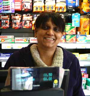 village shop staff