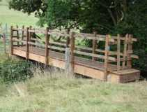 new footbridge at Wheel farm